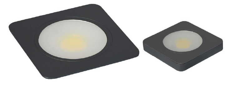 24V Square Matt Black Imperia Downlight