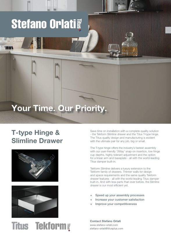 Joiners Magazine Advert - T-type Hinge and Slimline Drawer
